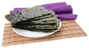 seaweed alga seca no fundo Fotos de Stock Royalty Free