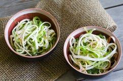 Seaweed and crab sticks  salad Royalty Free Stock Photos