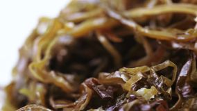 Seaweed Edible in bulk. Edible sea kale in bulk stock video footage