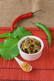 Seaweed with grain mustard and herbs Royalty Free Stock Image