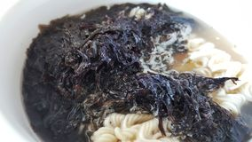 The  Seaweed instant noodle Stock Photography