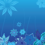 Seaweed and jellyfish background. Abstract flowers vector illustration