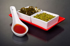 Seaweed and Mung beans Stock Image