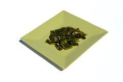 Seaweed. Nori seaweed dish on white background Royalty Free Stock Photos