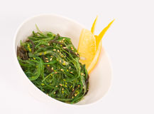 Seaweed salad. Oriental cuisine - salad of seaweed and transparent soy noodles Royalty Free Stock Image