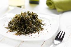 Seaweed salad. Appetizer and healthy Seaweed salad royalty free stock photo