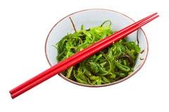 Seaweed salad in ceramic bowl Stock Photo
