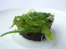 Seaweed salad sushi roll Royalty Free Stock Photography
