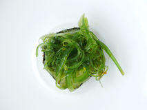 Seaweed salad sushi roll. Stock Photos