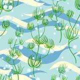 Seaweed seamless Stock Image