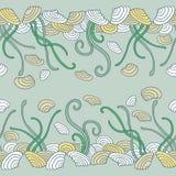 Seaweed seamless pattern Stock Photography