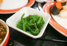 Seaweed or seaweed salad. Dish Royalty Free Stock Photos