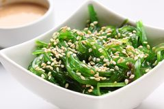 Seaweed with sesame. On a white Stock Photography