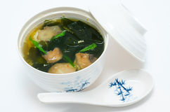 Seaweed soup Stock Image