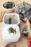 Seaweed soup is delicious and dried seaweed. Royalty Free Stock Photos