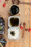 Seaweed soup is delicious and dried seaweed. Stock Photos