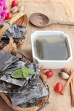 Seaweed soup is delicious and dried seaweed. Royalty Free Stock Photography
