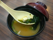 Seaweed soup, Japanese food Stock Photos