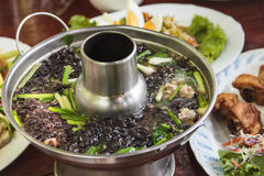Seaweed soup with minced pork Stock Photos