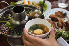 Seaweed soup with minced pork Royalty Free Stock Photo