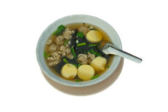 Seaweed soup with tofu Royalty Free Stock Image