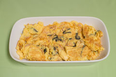 Seaweed and squid omelette Stock Photo