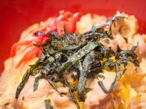 Seaweed topped on korean food Royalty Free Stock Image