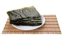 Seaweed. torr seaweed på bakgrund royaltyfri fotografi