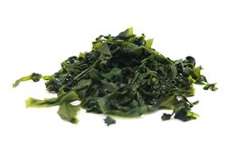 Seaweed wakame ( lat. Undaria pinnatifida) Stock Image