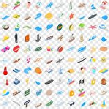 100 seawind icons set, isometric 3d style. 100 seawind icons set in isometric 3d style for any design vector illustration Royalty Free Stock Photo