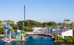 Seaworld Park Horizontal View On Open Aquarium Royalty Free Stock Images