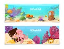 Seaworld word on underwater background   Stock Photo