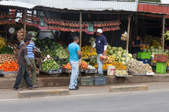 Sebaco market with people in Nicaragua Royalty Free Stock Images