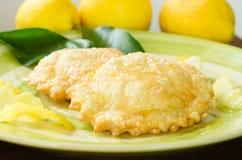 Sebadas, Sardyńska kuchnia Obraz Royalty Free