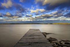 Sebago湖,缅因 免版税库存图片