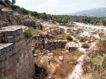 Sebastia、古老以色列、废墟和挖掘 免版税库存照片