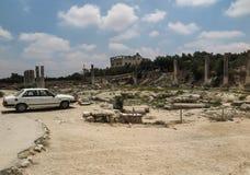Sebastia、古老以色列、废墟和挖掘 库存照片
