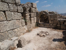 Sebastia, ancient Israel, ruins and excavations. In the Palestinian territories. Smaria Stock Photo