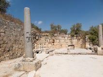 Sebastia, ancient Israel, ruins and excavations Stock Images