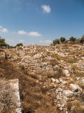Sebastia, ancient Israel, ruins and excavations. In the Palestinian territories. Smaria Royalty Free Stock Images