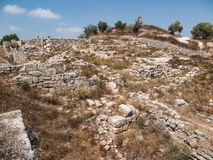 Sebastia, ancient Israel, ruins and excavations. In the Palestinian territories. Smaria Stock Image