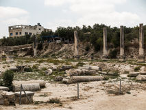 Sebastia, ancient Israel, ruins and excavations. In the Palestinian territories. Smaria Royalty Free Stock Image