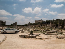 Sebastia, Israel antiga, ruínas e escavações Fotos de Stock