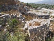 Sebastia, Israel antiguo, ruinas y excavaciones fotos de archivo libres de regalías