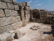 Sebastia, oud Israël, ruïnes en uitgravingen stock foto