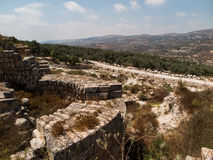 Sebastia, oud Israël, ruïnes en uitgravingen royalty-vrije stock foto