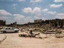 Sebastia, oud Israël, ruïnes en uitgravingen Stock Foto's