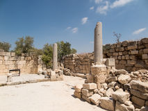 Sebastian, ancient Israel, ruins and excavations. In the Palestinian territories. Smaria Stock Photography