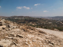 Sebastian, ancient Israel, ruins and excavations. In the Palestinian territories. Smaria Royalty Free Stock Photography