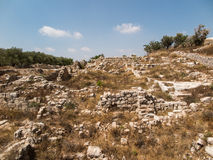Sebastian, ancient Israel, ruins and excavations. In the Palestinian territories. Smaria Stock Image